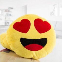 Cojín Emoticono Enamorado