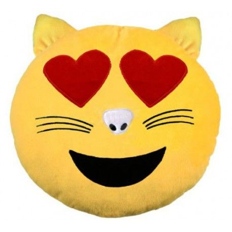 Cojín Emoticono Gato