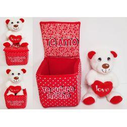 Caja con Peluche Enamorados