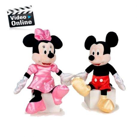Minnie y Mickey traje satinado