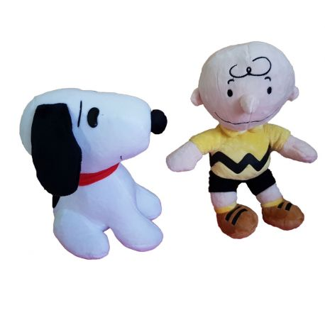 Peluche Snoopy y Charlie Brown