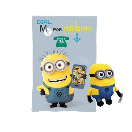 Manta Polar Minion + Regalo Peluche