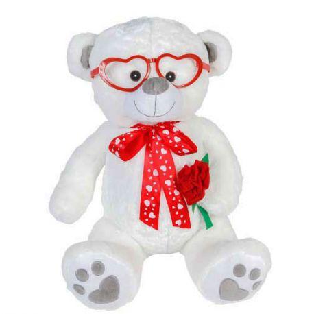 Osito blanco con gafas