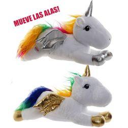 Unicornio Oro-Plata con luz y Movimiento