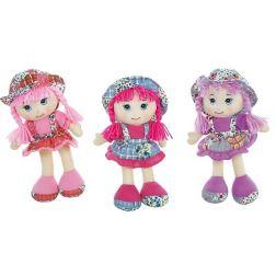 Muñecas de trapo traje flores 50cm.