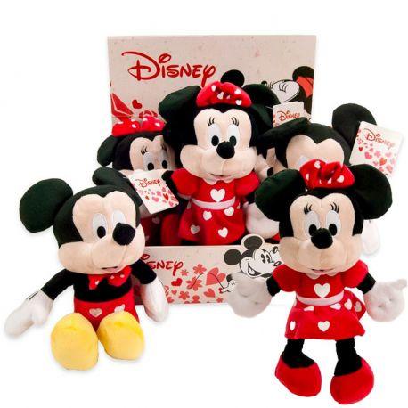 Peluche Minnie y Mickey Corazones