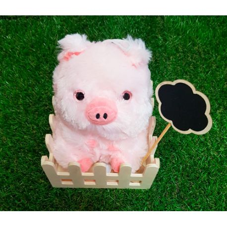 Cerdo bolita con mensaje