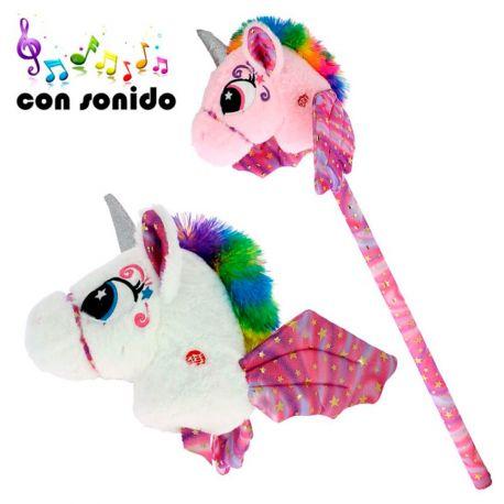 Cabeza unicornio con palo