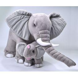 Peluche Elefante con Bebé