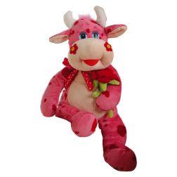 Vaca rosa con Flor