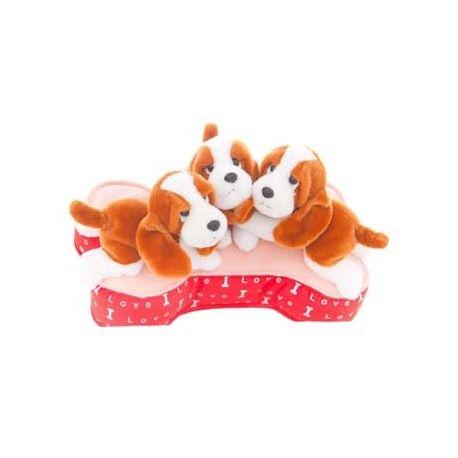 Set 3 Perritos con almohada 32 cm.